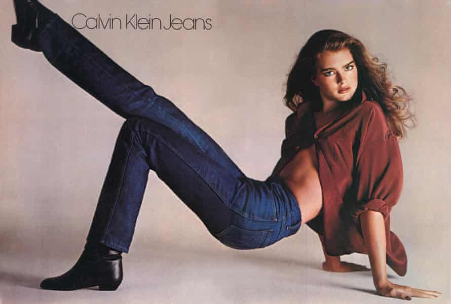 Actor Brooke Shields in a 1980 Calvin Klein jeans ad
