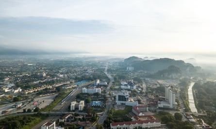 Aerial view of Ipoh, Malaysia.