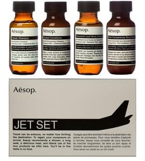 Jet set toiletries travel kit