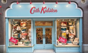 The storefront of the home furnishing and fashion retailer Cath Kidston on King Street in Manchester.
