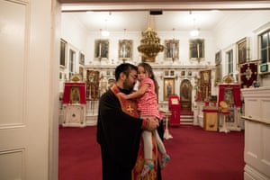 Father John Kudrin, a Russian Orthodox priest, is housed thanks to the tribe's financial self determination.