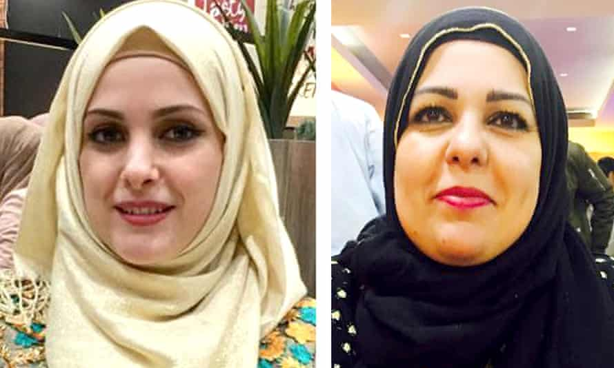 Raneem Oudeh (left) and her mother Khaola Saleem were killed by Oudeh's ex-partner Janbaz Tarin in August.