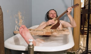 The artist in the bath … Ragnar Kjartansson in video installation The Visitors.