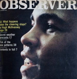 'What happens when the cheering stops?': Muhammad Ali in the Observer Magazine, 23 March 1975.
