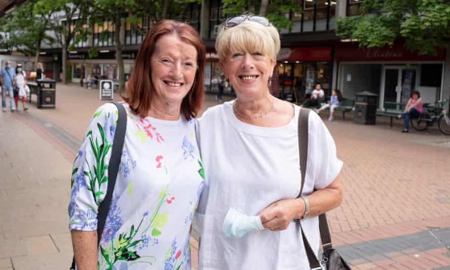 Moira Gough and Joanne Dyde