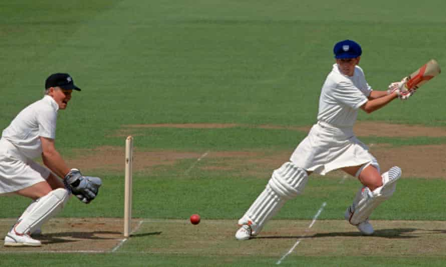 Jan Brittin batting for England against New Zealand in the Women's World Cup final at Lord's, 1993.