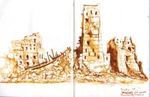 A war sketch from Yemen.