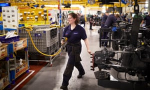 Production facilities at Leyland Trucks in Lancashire, where output per employee is high.