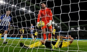 Watford's Ben Foster reacts to Adrian Mariappa's own goal.