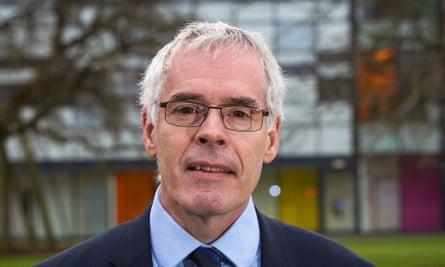 Peter Horrocks at the Open University campus in Milton Keynes, Buckinghamshire.