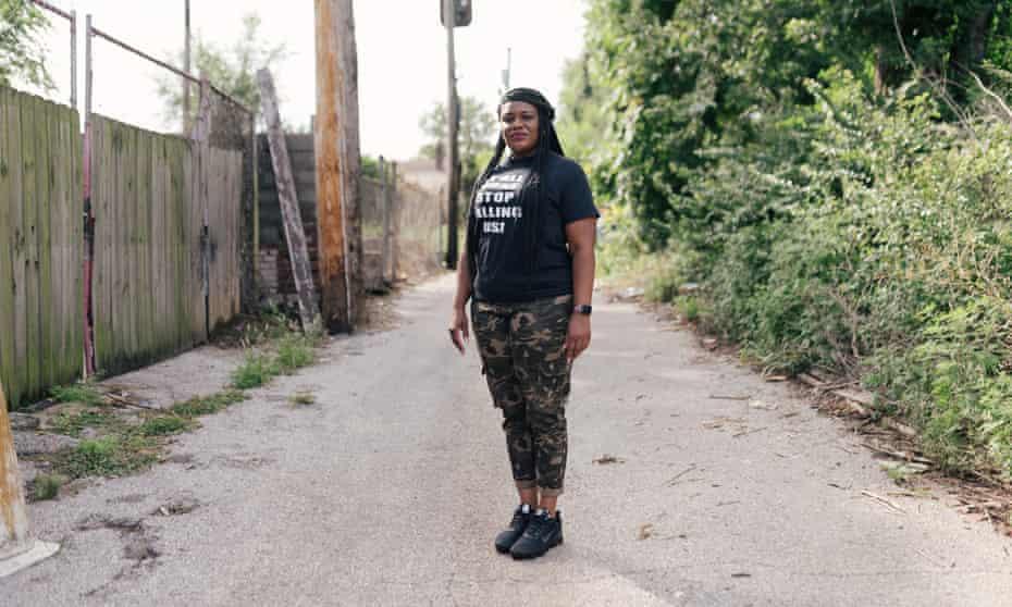Cori Bush in St Louis, Missouri.