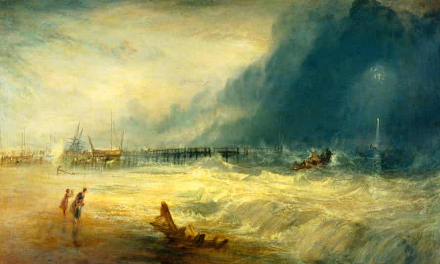 JMW Turner's depiction of a stormy sea, painted c1831.