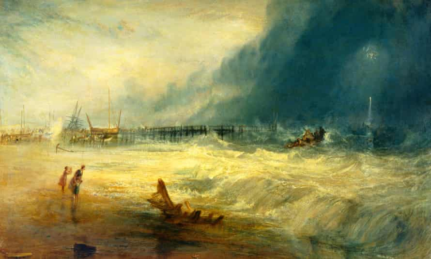 Lifeboat Rescuing Vessel (c1831), by JMW Turner: 'The speed and peculiarities of tidal currents are dramatic and deadly'