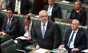 Prime minister Scott Morrison during question time in the House of Representatives in Canberra, Wednesday, 5 December, 2018.