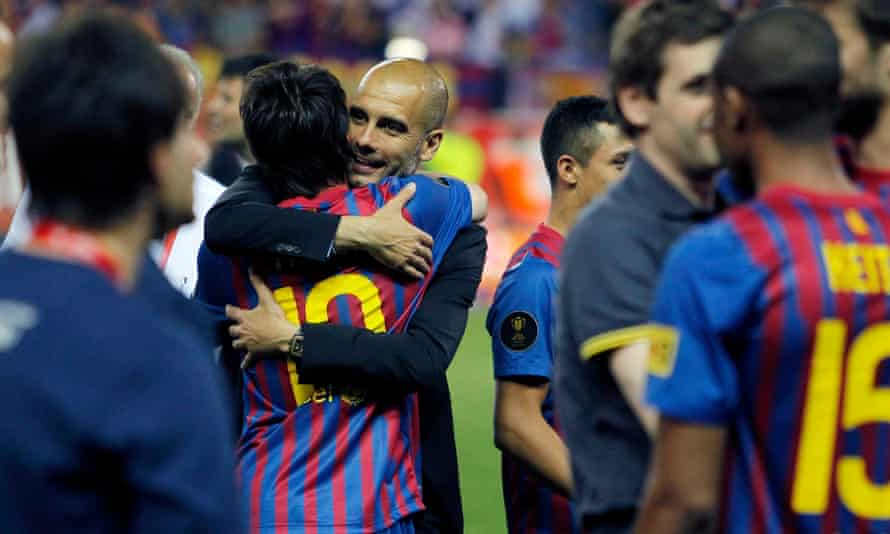Together again? Lionel Messi may choose to reunite with Pep Guardiola at Manchester City.