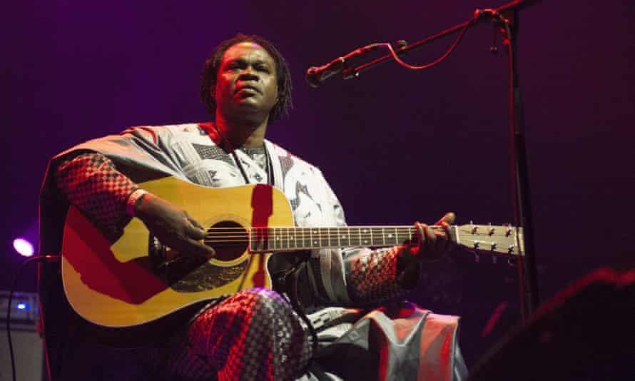 Baaba Maal at the Royal Festival Hall, London: powerful acoustic guitar work.