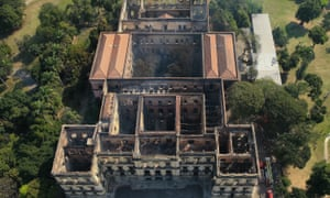 Aerial view of the gutted National Museum.