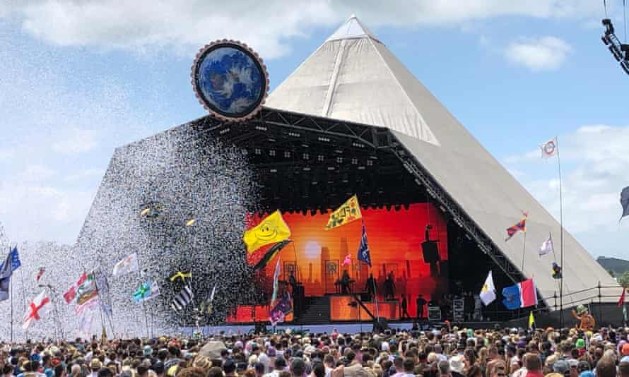 Years and Years perform on the Pyramid Stage at Glastonbury festival
