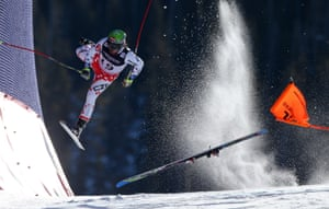 Sports, first prize, singles - Christian Walgram - FIS Alpine World Ski Championships: Czech Republic's Ondrej Bank crashes during the Alpine Combined race in Beaver Creek, Colorado, US