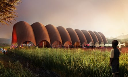 Design for the proposed drone-port project in Rwanda.