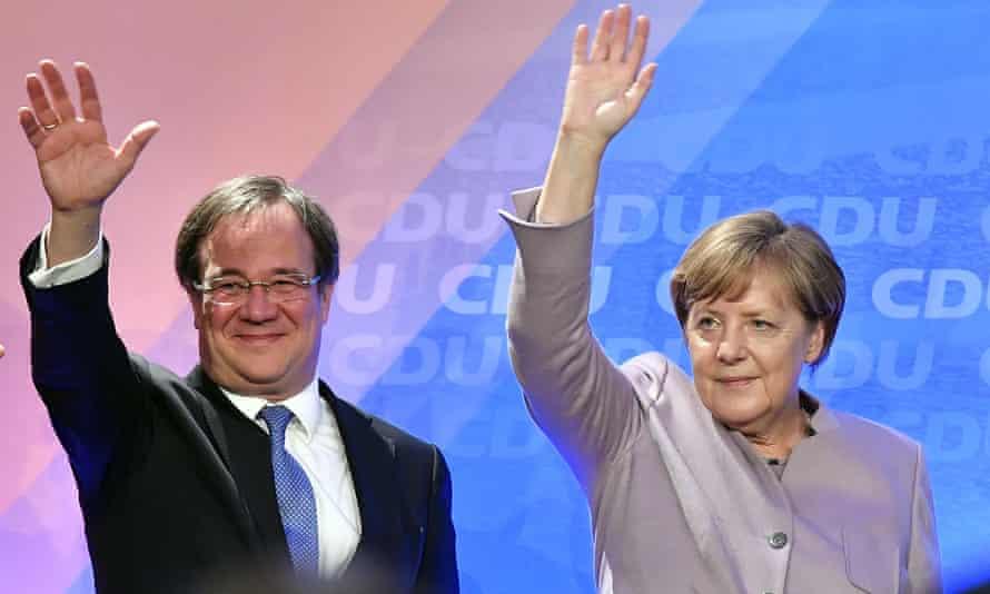 Laschet and Merkel in 2017