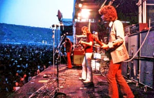 The Moody Blues performing at Isle of Wight festival 1970.