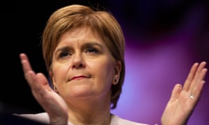 Nicola Sturgeon at the SNP conference in Glasgow
