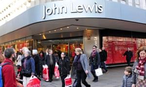 Shoppers near John Lewis store