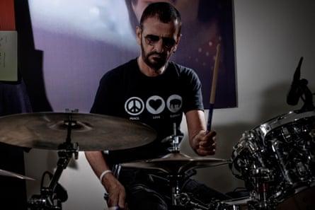 Ringo Starr, photographed in his home studio, California.