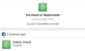 screengrab of safety check