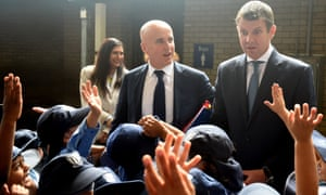 Adrian Piccoli, with New South Wales premier Mike Baird