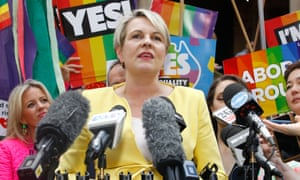 Tanya Plibersek addresses the media and supporters at a rally in support of marriage equality in Sydney.