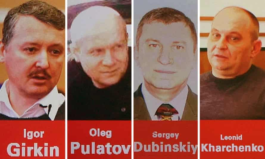 The suspects named by Dutch-led investigators over the 2014 shooting down of MH17.