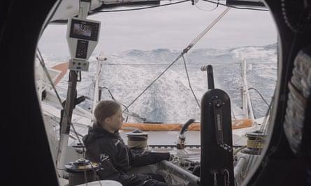Making waves … Greta Thunberg crossing the Atlantic in I Am Greta
