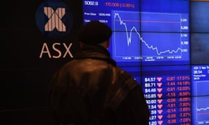 The Australian stock market was the first to test the water on Monday, falling up to 0.7%.