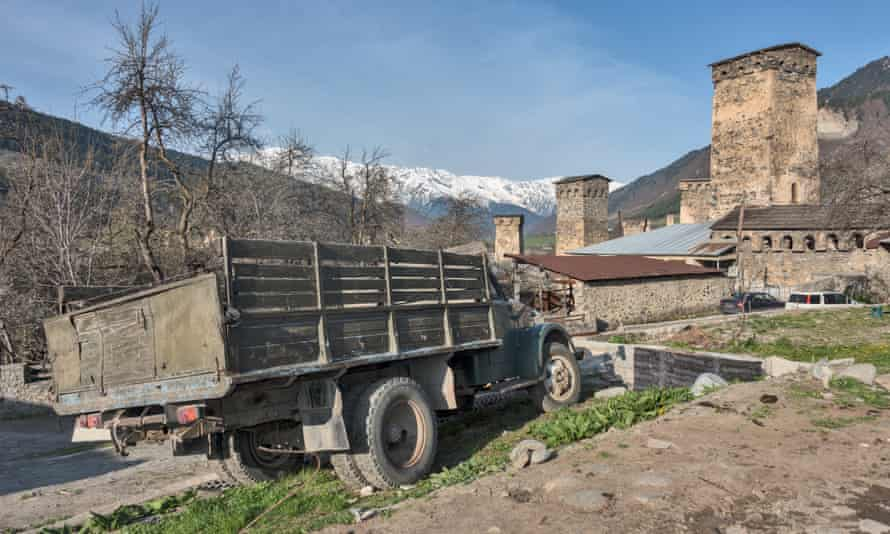 An old Soviet truck in Mestia.