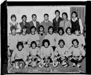 Britain's first all-Asian football team, formed in Southall by Kessar Singh Bhatti (pictured back row, 3rd from left).