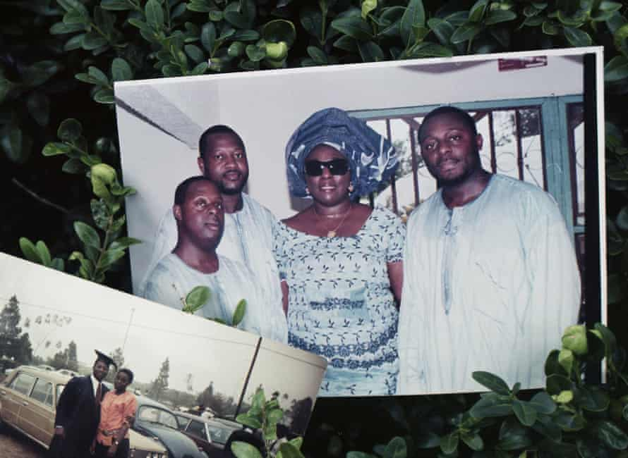 Ida with brothers Isi, Olume and Osi (right); Osi caught the virus, but recovered.