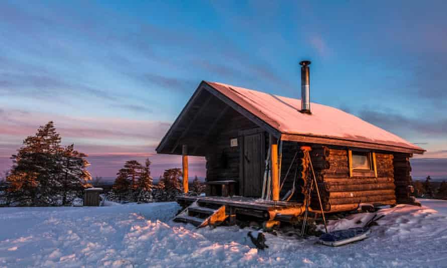 Wilderniscabine in Finland.