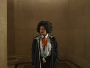 Portrait: Cynthia, Security Guard, Tate Britain by Julia Fullerton-BattenIn January 1928, the Thames rose to its highest level ever measured. The ensuing flood caused the death of 14, and thousands were made homeless. The Tate gallery was one of the buildings flooded. Paintings were damaged, including many valuable sketches and watercolours by Turner. I and my team re-created that fateful night for my Old Father Thames series. My portrait is of the security guard who observed our work with great interest and was a calming presence'