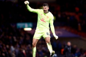 A jubilant Fraser Forster after the final whistle.