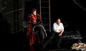 Sarah Connolly as Fricka and John Lundgren as Wotan in Die Walküre at Covent Garden.