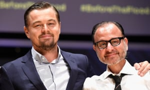 Leonardo DiCaprio and Fisher Stevens at a Before The Flood special screening in Miami Beach, Florida, 4 October.