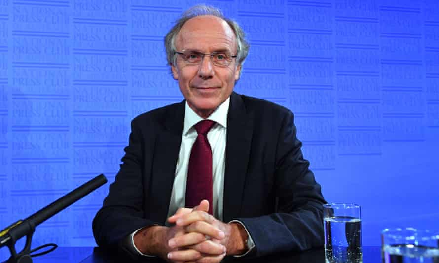 Australia's chief scientist Alan Finkel speaks at the National Press Club in Canberra in February 2010