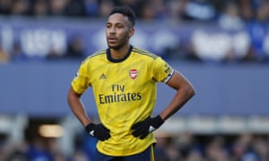 Aubameyang rues a missed pass.