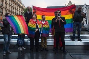 Paris, France. Members of the gay community pay tribute to victims of the Orlando shooting