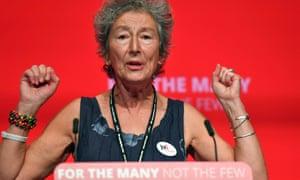 Event organiser Naomi Wimborne-Idrissi addresses Labour's 2017 conference.