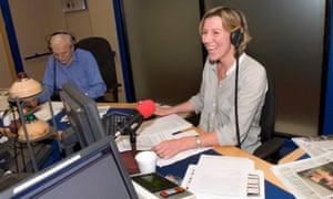 Sarah Montague and John Humphrys presenting BBC Radio 4's Today programme.