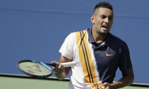 Nick Kyrgios, who has been penalised for lack of best effort in the past, cut a disconsolate figure in his match against Pierre-Hugues Herbert prior to Mohamed Lahyani's intervention.
