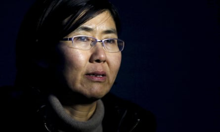human rights lawyer Wang Yu talks during an interview with Reuters in Beijing on 1 March 2014.